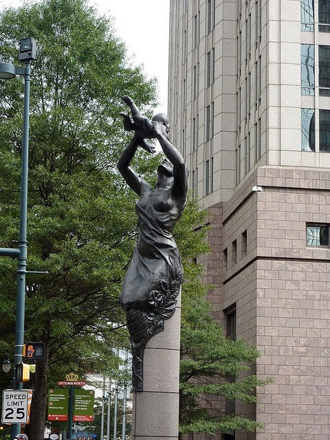 Future Statue at Trade and Tryon St., Charlotte NC