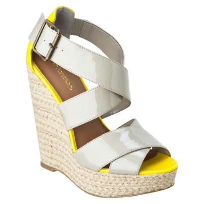 Espadrille wedge with a touch of neon: Grey Wedges, Espadrilles Wedges, Style, Espadrille Wedge, Summer Shoes, Espadril Wedges, Target Shoes, Beautiful Clothing, Gray Wedges