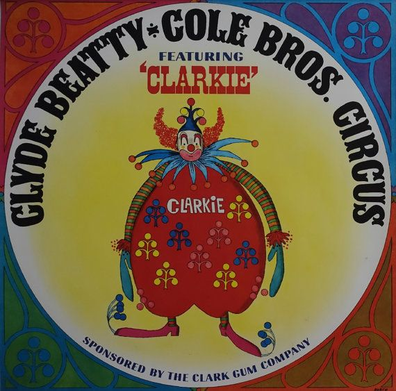 1960s Clyde Beatty & Cole Bros. Circus  by OutofCopenhagen on Etsy
