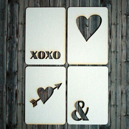 NőiCsizma | Szerelmes témájú chipboard kártyák