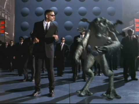 Will Smith - Men In Black[Official Music Video]... If you look with carefully this song (MIB), will recognize elements belonging to the song George Michael - Fast Love | anyway, I like that, specialy because Will Smith is a very inteligent and carismatic artist