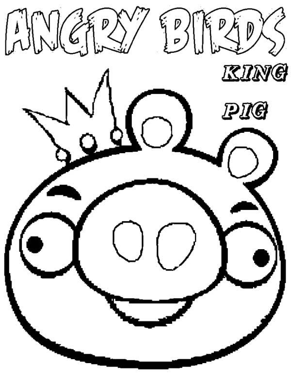 Read Moreking Of Angry Bird Pigs Coloring Pages Coloring Pages