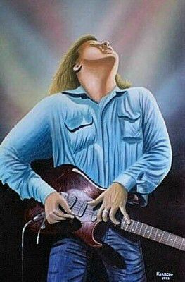 """Jeff Healey"" Painting by Kenneth M Kirsch 1998"