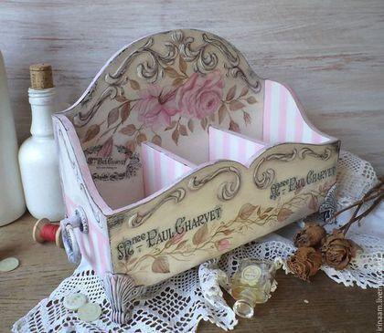 """Корзины, коробы ручной работы. Ярмарка Мастеров - ручная работа. Купить """" Дамский угодник """" короб для дамских мелочей. Handmade."""