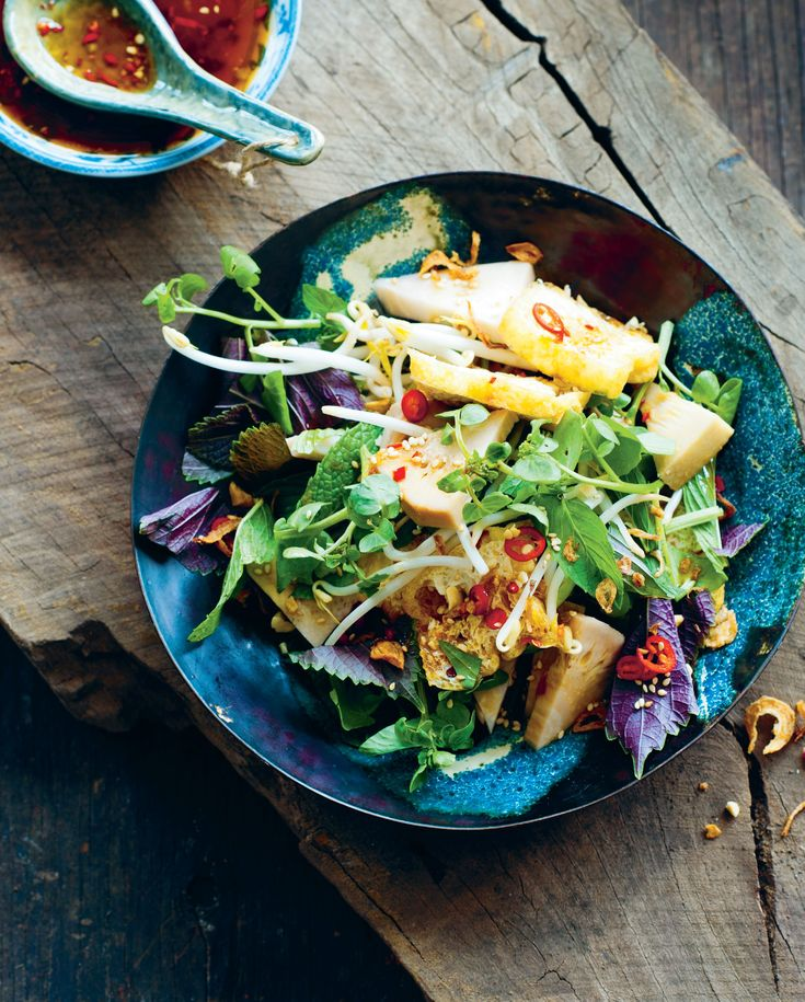 Young jackfruit salad with tofu recipe from The Food of Vietnam by Luke Nguyen
