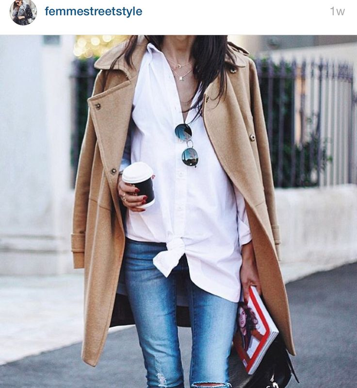White shirt and jeans - an eternal look
