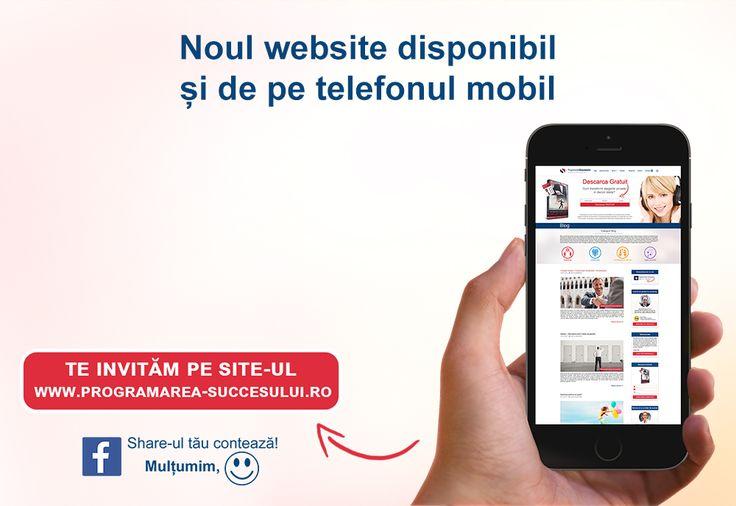 Noul website disponibil si de pe telefonul mobil:  http://programarea-succesului.ro/