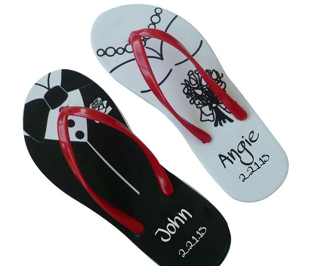 50 Pairs Personalized Flip Flops For Your By PersonalizedSlippers