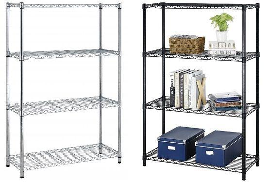 4-Tier Steel Wire Storage Rack Shelving - Holds 200 Lbs Per Shelf 39.97