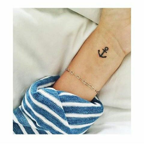 tattoo, girl, and anchor image