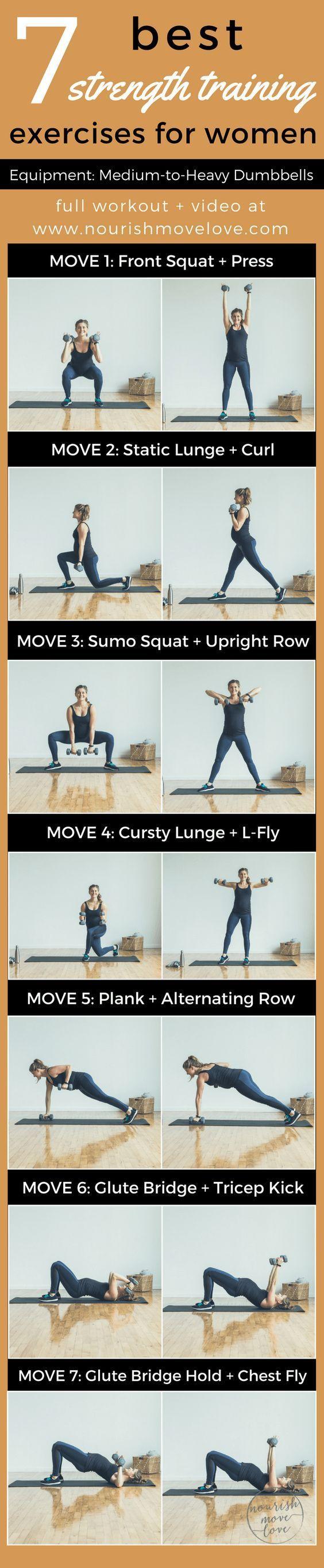 7 Best Strength Training Exercises for Women | www.nourishmovelove.com7 Best Strength Training E