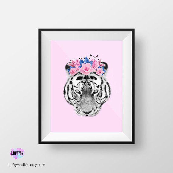 Impresión del tigre Animal vivero pared arte tigre por LOFTYandME