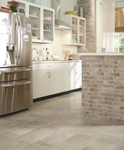 Killer combo! Pair bricks and cotto tile from our Capella Porcelain Collection to create an unforgettable kitchen!