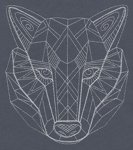 Geometric wolf google search design inspiration