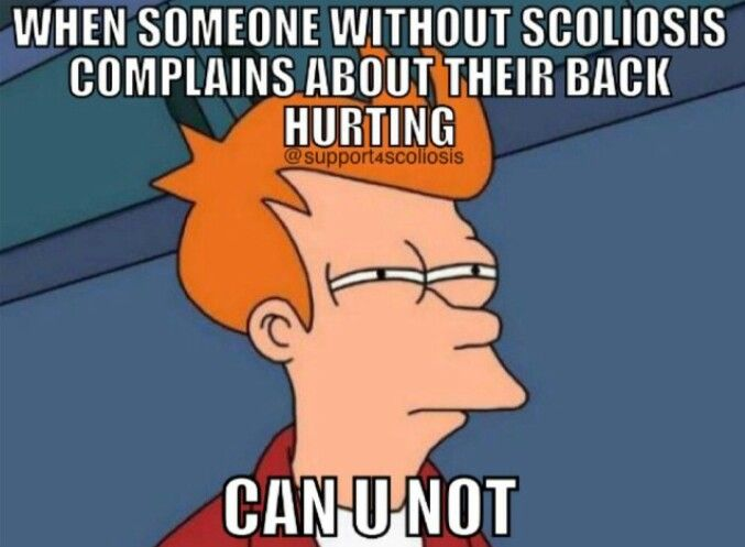 Scoliosis back pain problems...