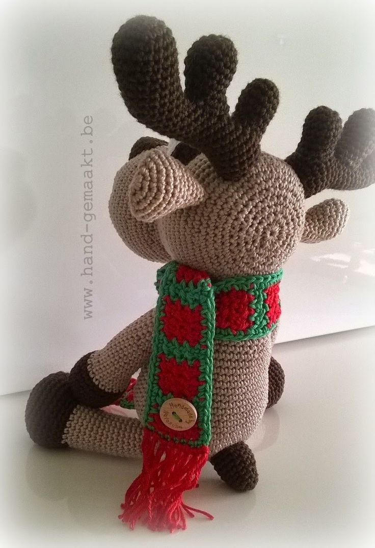 Amigurumi Heft : Hand-gemaakt - Rudolf het rendier haken, amigurumi ...