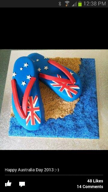 Thongs cake Australia Day