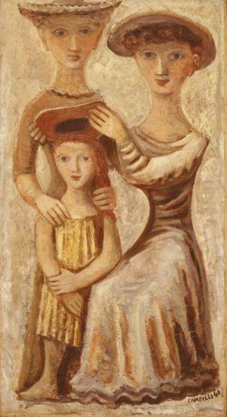 Massimo Campigli. Italian (1895 - 1971) - Oil on Canvas -