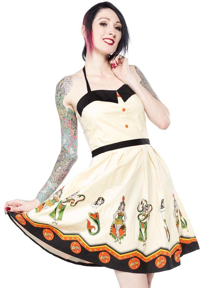 SOURPUSS SIDESHOW LADIES SPOOKSVILLE DRESS - Sourpuss Clothing