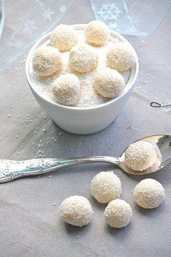 Truffles al cioccolato bianco e cocco
