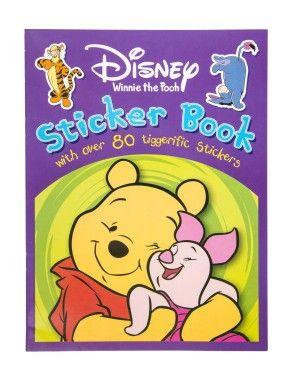 Pooh Bear Sticker Book