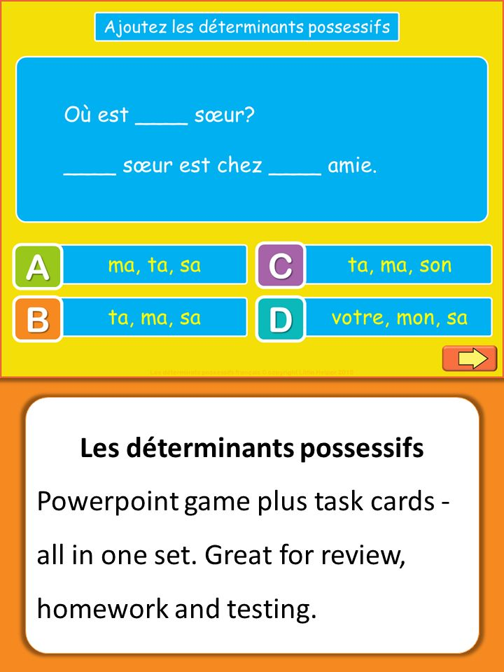 29 Best French Possessive Adjectives Images On Pinterest French