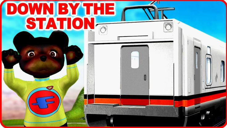 Down By The Station | English Nursery Rhymes | Cartoon Animated Rhymes F...