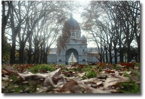 Melbourne, Australia winter outside the Exhibition Buildings compliments of http://www.flickr.com/photos/8811359@N03/7493453118/