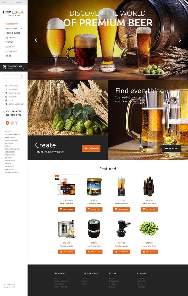 35 best opencart templates images on pinterest role