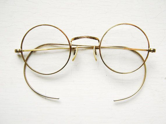 Old Gold Glasses Frames : Antique Round 1930s Etched Chased Gold Filled Eyeglass ...