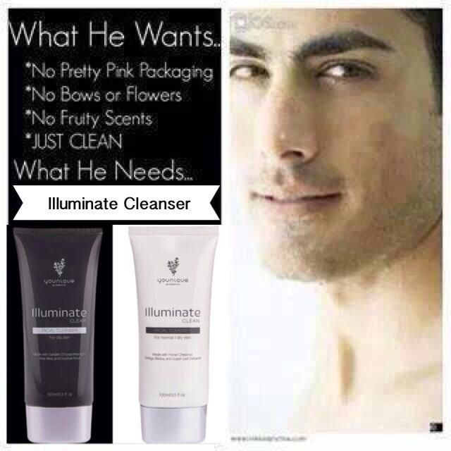Even men use younique  These are our face wash we have