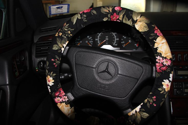 Black Floral Steering Wheel Cover.  Classic Floral Wheel Cover . Womens Wheel Cover . by SouthernAplus on Etsy https://www.etsy.com/listing/226500649/black-floral-steering-wheel-cover