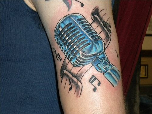 microphone tattoos for women's arms | Shannon Mums Custom ... | 500 x 375 jpeg 39kB