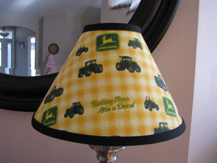 Green John Deere Lamp Shade : John deere lamp shade by zacharydickorydock on etsy