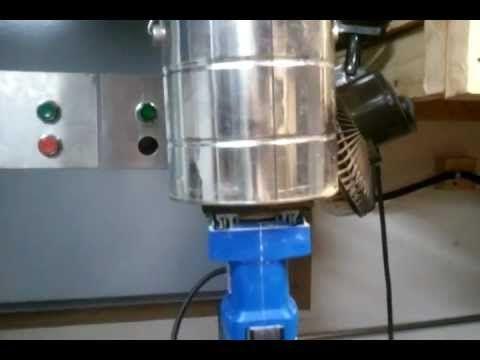 Homemade vibratory tumbler - YouTube