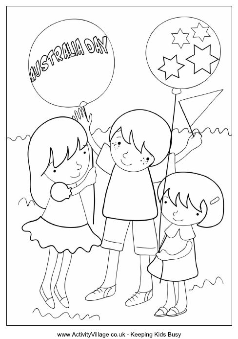 Australia Day colouring page. | Activity Village http://www.activityvillage.co.uk/australia-day-colouring-page
