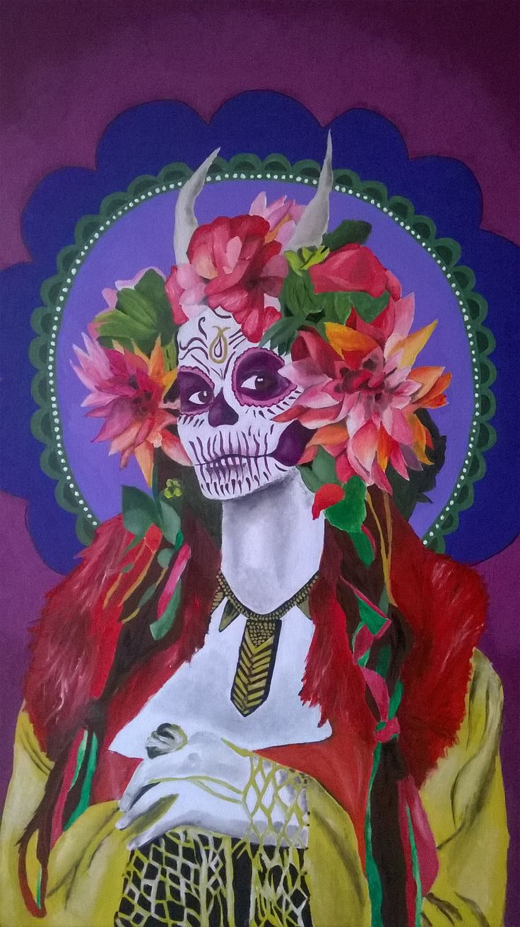 """Mexican Girl"" acrylics on canvas by Francesca Manuguerra"