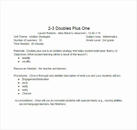 Lesson Plan Template Word Doc New Free 8 Sample Lesson Plans In Pdf Lesson Plan Templates Lesson Plan Pdf Lesson Plan Template Free