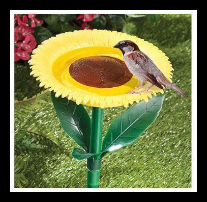 Sunflower Bird Bath