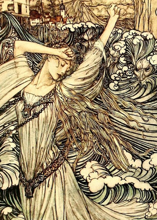 Detail Of A Illustration By Arthur Rackham From A 1909 Edition Of Undine By Friedrich De La Motte Fouque With Images Arthur Rackham Fairytale Illustration Fairytale Art
