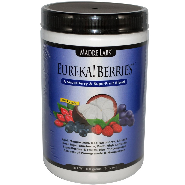Madre Labs, Eureka! Berries, A SuperBerry & SuperFruit Blend, 6.35 oz (180 g) - iHerb.com    ________________________________  This is the most unique blend of a wide spectrum of different berries!