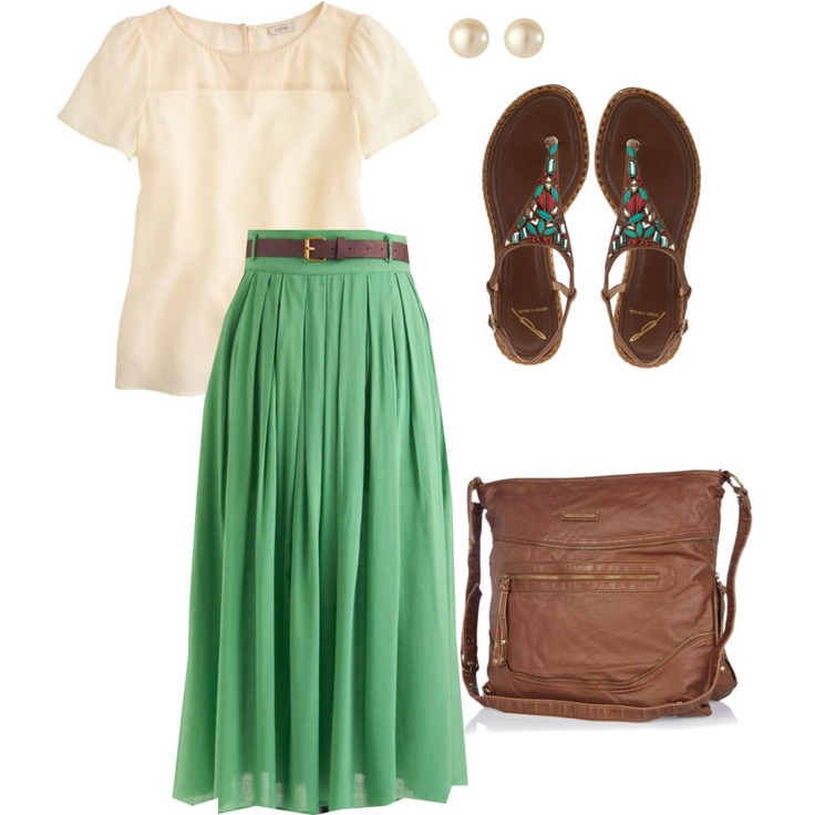 I'm not LDS, but this outfit is adorable! Maybe instead of the T-Shirt, a cream tank top
