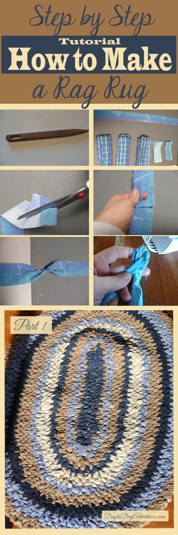 Making Toothbrush Rag Rug Tutorial Part 1 of 4 - DaytoDayAdventures.com