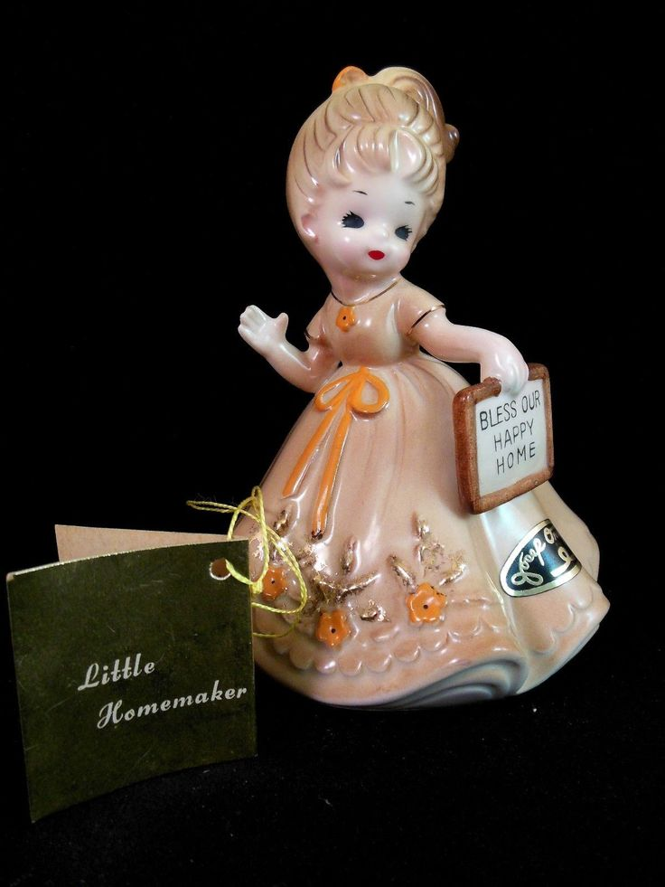 Josef Originals Figurine LITTLE HOMEMAKER Series Girl Our Happy Home w/ Hang Tag | eBay