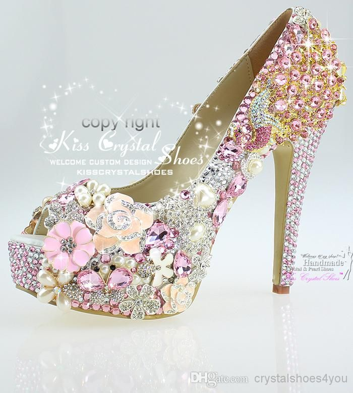 Cheap Bridal Shoes - Discount Ladies Pink Wedding Pumps for Wedding Bridal Party Online with $287.96/Pair | DHgate