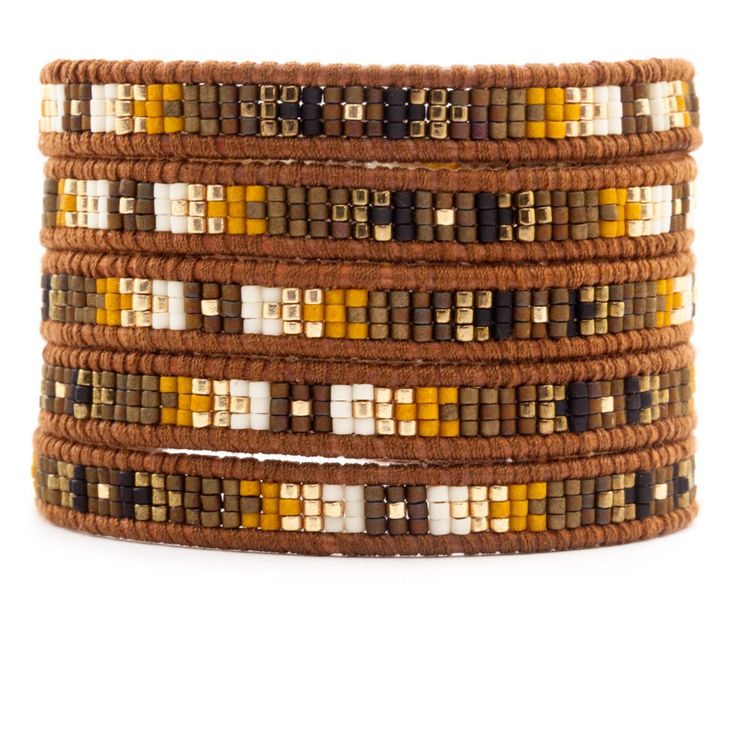 Chan Luu - Brown Mix Wrap Bracelet on Natural Brown Leather, $210.00 (http://www.chanluu.com/wrap-bracelets/brown-mix-wrap-bracelet-on-natural-brown-leather/)