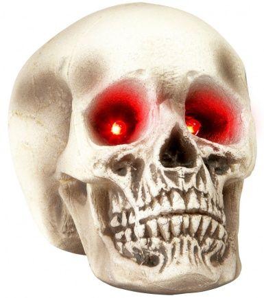 Cráneo ojos luminosos Halloween