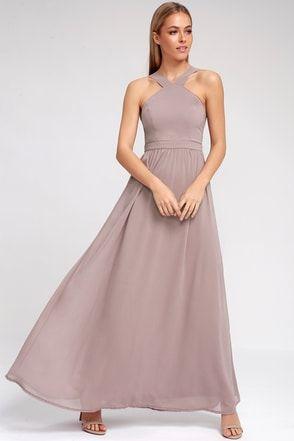 Air of Romance Taupe Maxi Dress 8