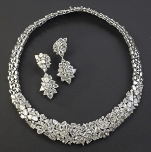 Indian Wedding Jewelry by POKARNNA GEMS +919885034956 Hyderabad, India -indian wedding diamond set