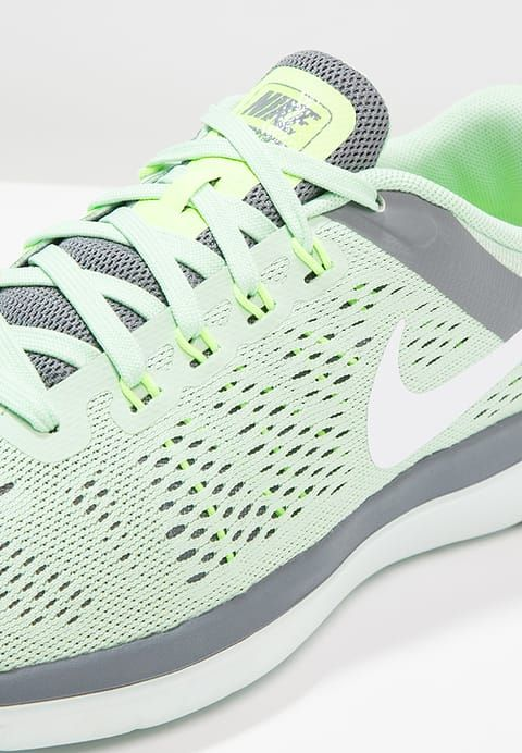 Nike Performance FLEX 2016 RUN - Chaussures de running compétition - fresh mint/white/cool grey/barely green/ghost green - ZALANDO.FR